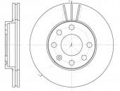 Remsa 6061.10 Тормозной диск Lanos 1.5