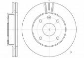 Remsa 6656.10 Тормозной диск Lacetti