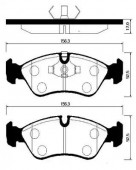 Hong Sung Brake HP2004 Тормозные колодки HSB Lanos 1,6