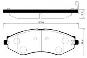 Hong Sung Brake HP2012 Тормозные колодки HSB Lanos