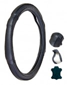 Vitol Чехол для руля кожаный VL6029 BK, чёрный