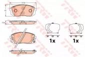 Trw GDB3642 Комплект тормозных колодок