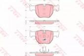 TRW GDB1526 Комплект тормозных колодок