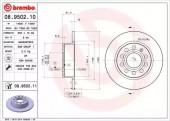 Brembo 08.9502.10 Тормозной диск