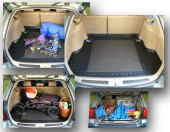 TM Rezaw-Plast Коврики  в багажник Renault Logan MCV 2013 -> резино-пластиковый, универсал 2 шт. Station, черный