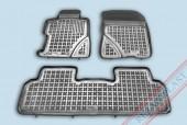 TM Rezaw-Plast Коврики в салон Honda Civic 2006-2012-> полимерные (резиновые), седан, задний цельный, черный, 3 шт.