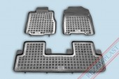 TM Rezaw-Plast Коврики в салон Honda CR-V 2007- 2012-> полимерные (резиновые), седан, задний цельный, черный, 3 шт.