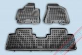 TM Rezaw-Plast Коврики в салон Hyundai Tucson 2004-2010-> полимерные (резиновые), задний цельный,черный, 3 шт.