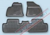TM Rezaw-Plast Коврики в салон Peugeot 3008 2009-> полимерные (резиновые), задний цельный, черный, 3 шт.