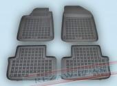 TM Rezaw-Plast Коврики в салон Peugeot 407 2004-2008-> полимерные (резиновые), черный, 4 шт.