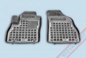 TM Rezaw-Plast Коврики в салон Peugeot Bipper 2008-> полимерные (резиновые), черный, 2 шт.