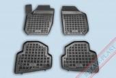 TM Rezaw-Plast Коврики в салон Skoda Fabia II 2007-> полимерные (резиновые), черный, 4 шт.