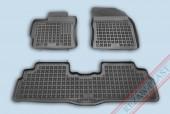 TM Rezaw-Plast Коврики в салон Toyota Verso 2009-> полимерные, задний цельный, черный, 3шт.