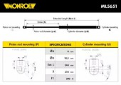 Monroe ML5651 Амортизатор багажника