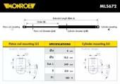 Monroe ML5672 Амортизатор багажника