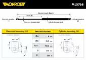 Monroe ML5768 Амортизатор капота