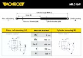 Monroe ML6169 Амортизатор багажника MONROE