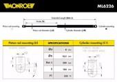 Monroe ML6226 Амортизатор капота