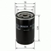 Bosch 0 451 103 340 фильтр масляный
