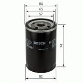 Bosch 0 986 452 016 фильтр масляный