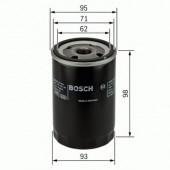 Bosch 0 986 452 024 фильтр масляный