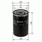Bosch 0 986 452 063 фильтр масляный