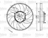 Valeo 696082 Вентилятор радиатора Valeo