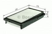 Bosch F 026 400 125 фильтр воздушный
