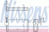 Nissens 73962 Радиатор отопителя