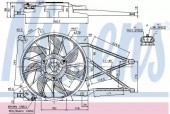 Nissens 85185 Вентилятор охлаждения двигателя