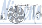 Nissens 85683 Вентилятор охлаждения двигателя
