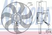 Nissens 85725 Вентилятор охлаждения двигателя