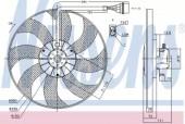 NISSENS 85796 Вентилятор охлаждения двигателя