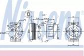 Nissens 89072 Компрессор кондиционера First Fit
