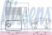 Nissens 90659 Масляный радиатор
