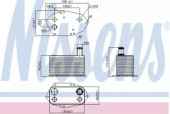 Nissens 90786 Масляный радиатор