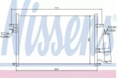 NISSENS 94725 Радиатор кондиционера