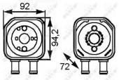 Nrf 31179 Радиатор масляный EASY FIT