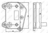 NRF 31183 Радиатор масляный