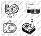 Nrf 31311 Радиатор масляный EASY FIT