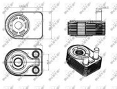 Nrf 31312 Радиатор масляный EASY FIT