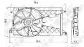 Nrf 47291 Вентилятор охлаждения радиатора