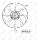Nrf 47375 Вентилятор охлаждения радиатора