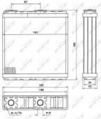 NRF 52098 Радиатор отопителя
