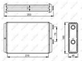 NRF 53233 Радиатор отопителя