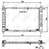 Nrf 53250 Радиатор охлаждения двигателя Matiz