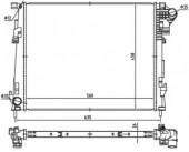 Nrf 53966 Радиатор охлаждения двигателя