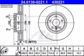 Ate 24.0130-0221.1 Тормозной диск