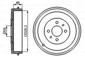 Bosch 0 986 477 088 Тормозной барабан Bosch