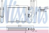 Nissens 707076 Радиатор отопителя